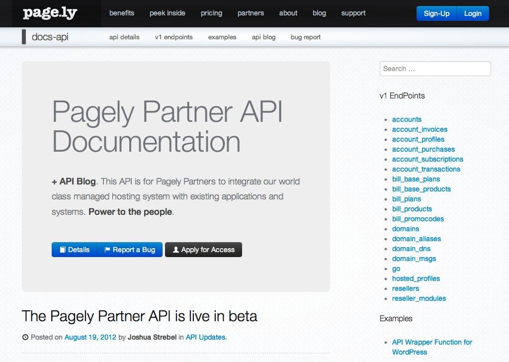 WordPress API Docs