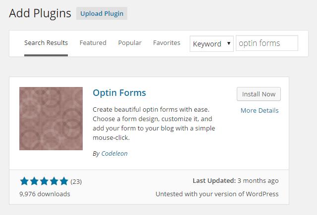 Optin Forms Install