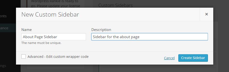 New Sidebar