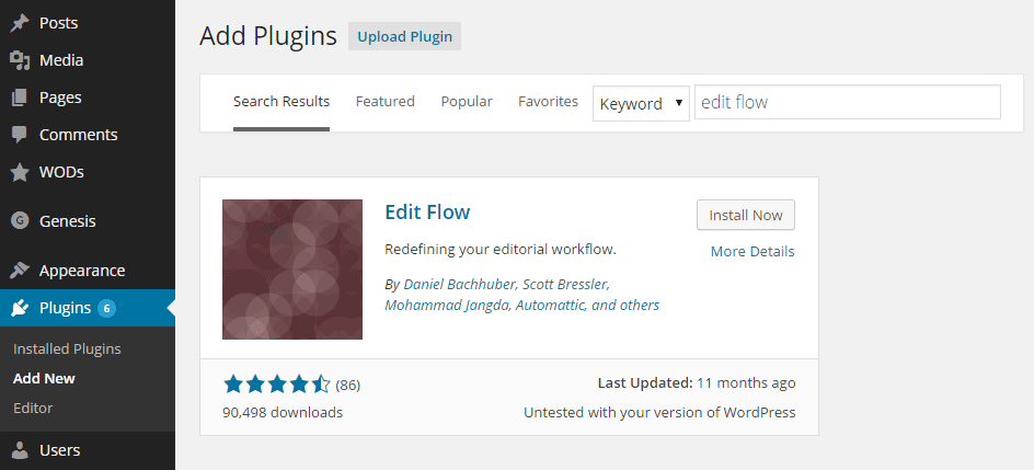 Edit Flow Add Plugin