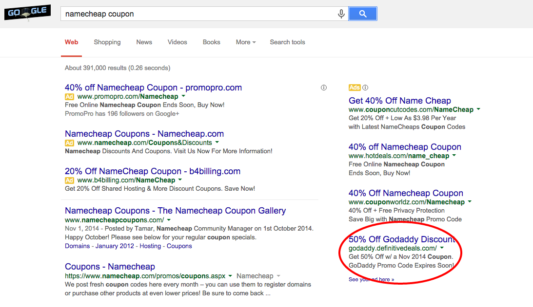 namecheap coupon Google Search