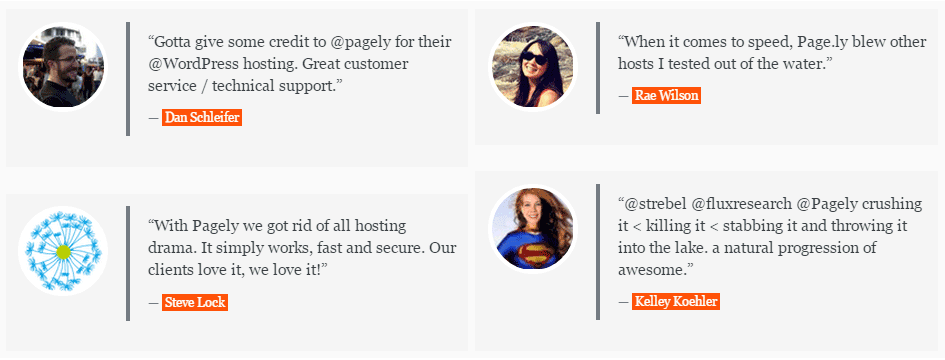 how to publish great looking testimonials in wordpress Sample Testimonials