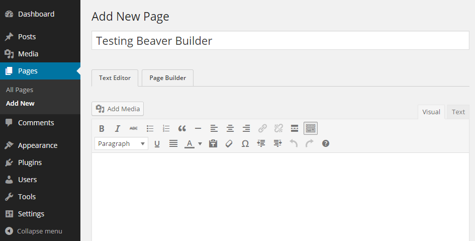 Beaver Builder Page Builder Tab