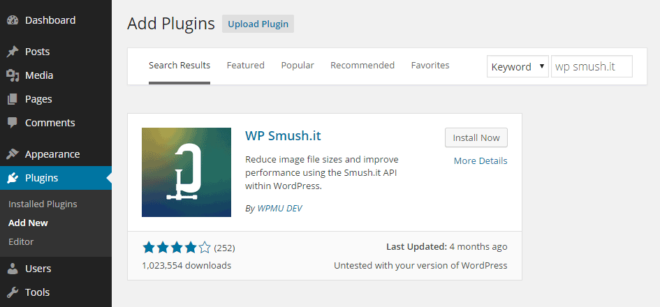 Add WP Smush.it Plugin