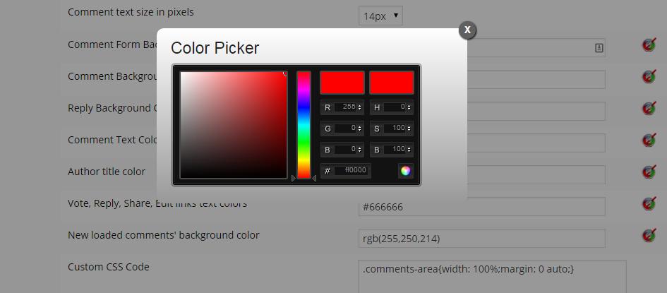 wpDiscuz Color Picker