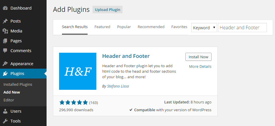 Header Footer Add Plugin