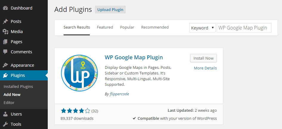 WP Google Map Plugin Add