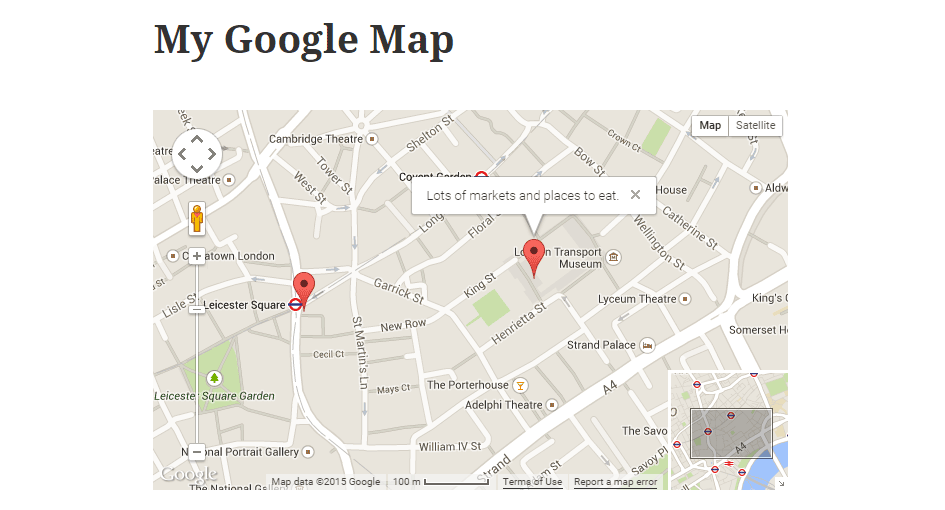 WP Google Map Plugin The Map