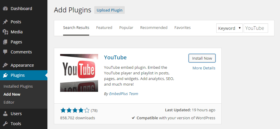 Get More Options for Inserting YouTube Videos Into WordPress
