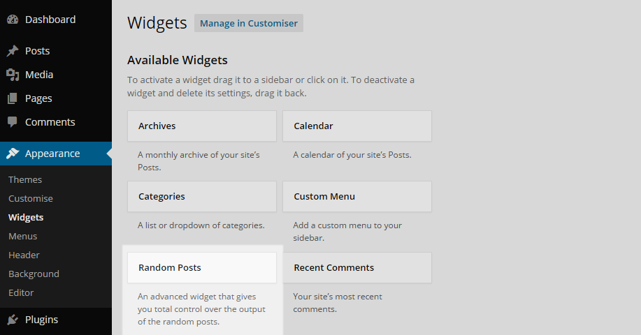 Advanced Random Posts Widget Page