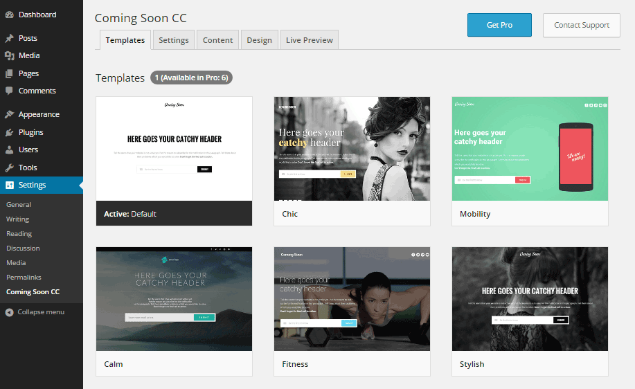 Coming Soon CC Templates