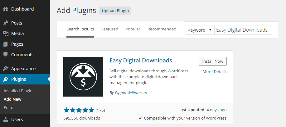 Easy Digital Downloads Add Plugin