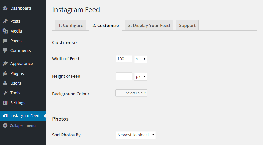 Instagram Feed Customize