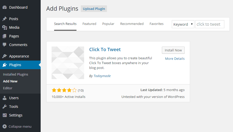 Click to Tweet Add Plugin