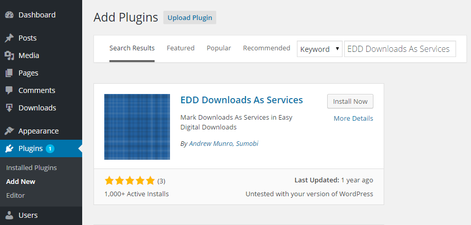 EDD Downloads As Services Add Plugin