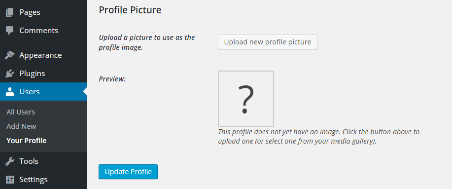 Add Custom Author Images to the WordPress User Profiles