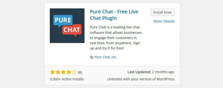 Install Pure Chat plugin