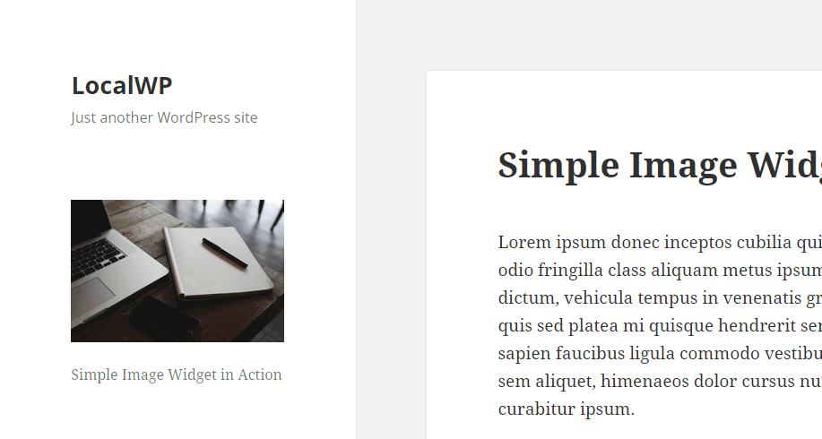 Simple Image Widget Front End