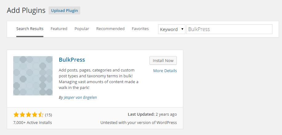 BulkPress Add Plugin