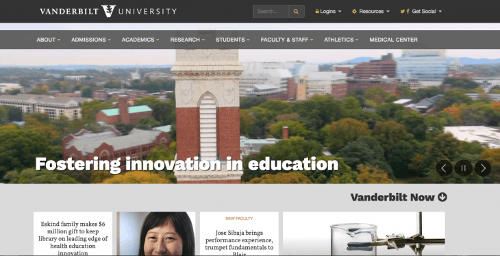 Top University Websites Using WordPress: Vanderbilt