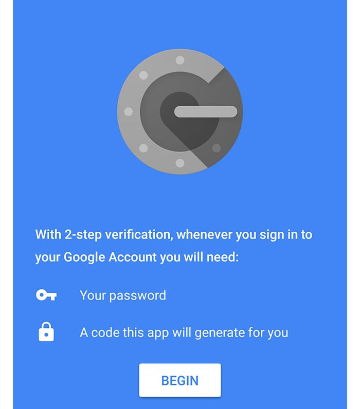 Google Two Factor Authentication