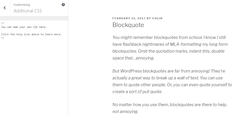 How to Style Blockquotes in WordPress