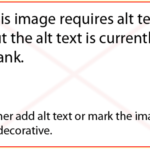 Image of Reminder to Alternative Text on Images
