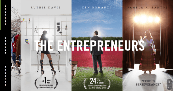 "Babson College's ""The Entrepreneurs"" campaign."