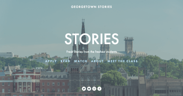 Georgetown Stories website