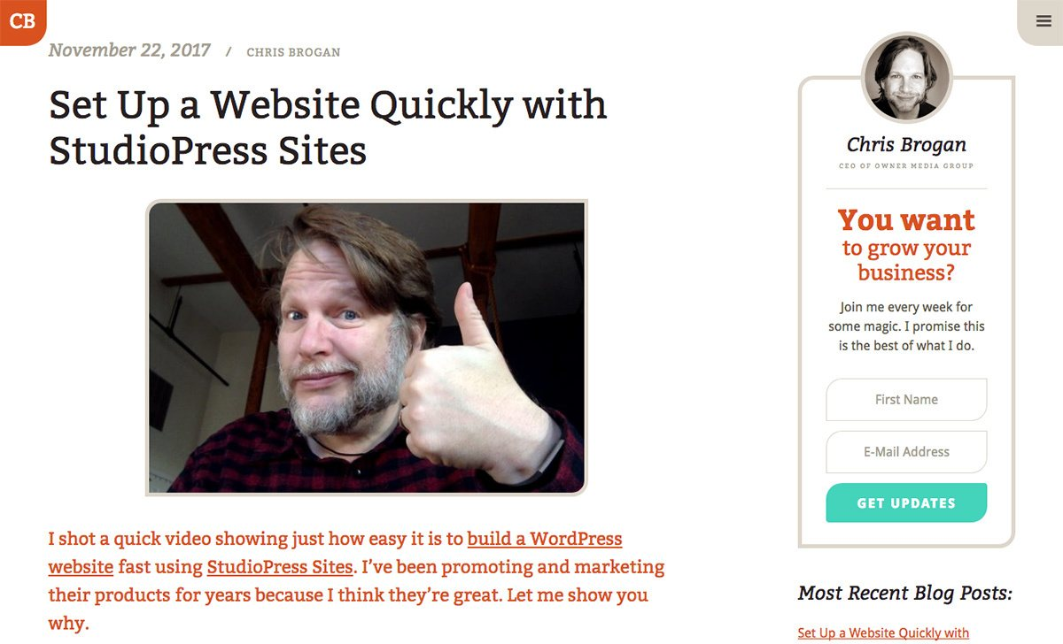 Chris Brogan's blog