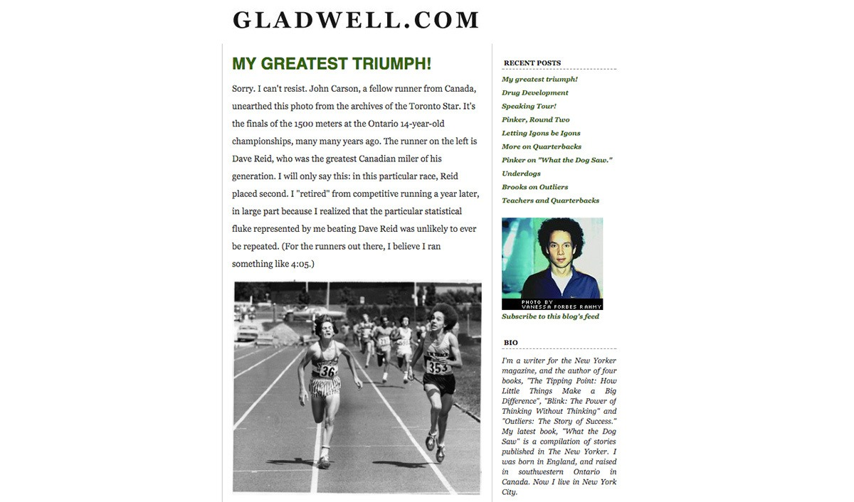 Malcolm Gladwell's blog