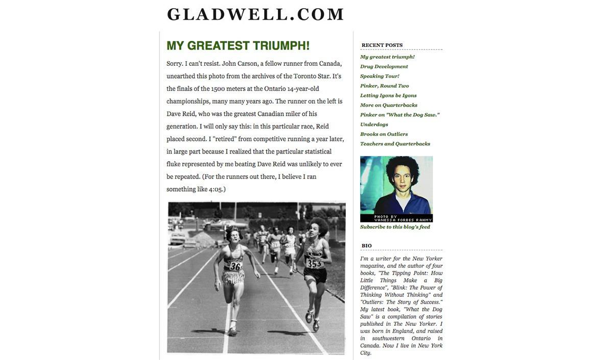 Malcolm Gladwell's blog