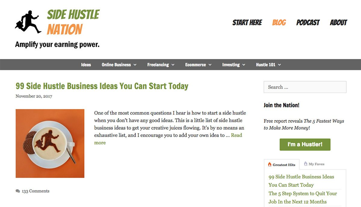 The Side Nation Hustle blog