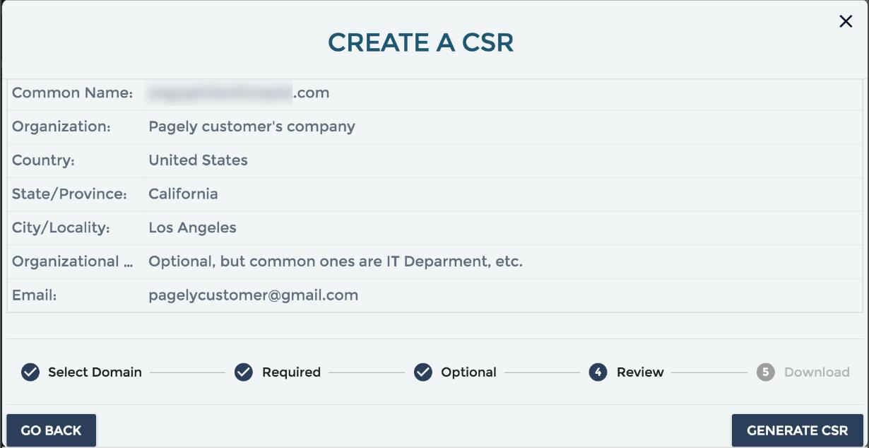 create a CSR