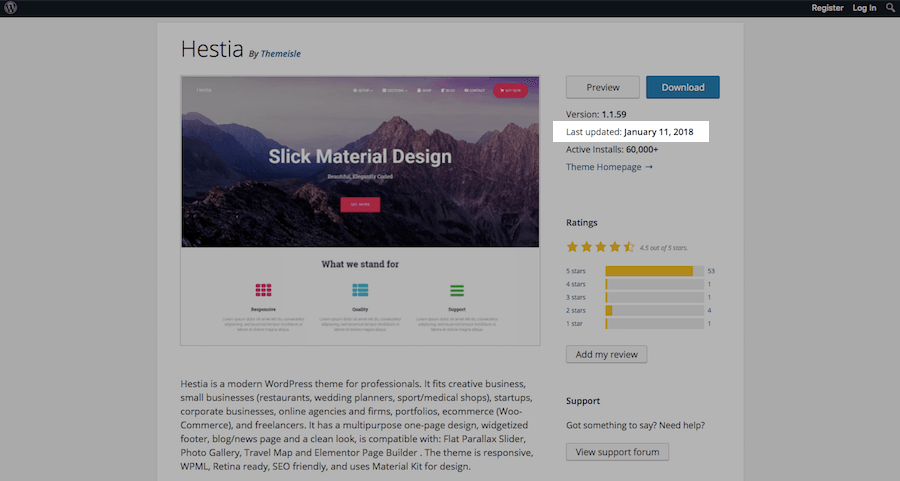 WordPress Theme Evaluation-update