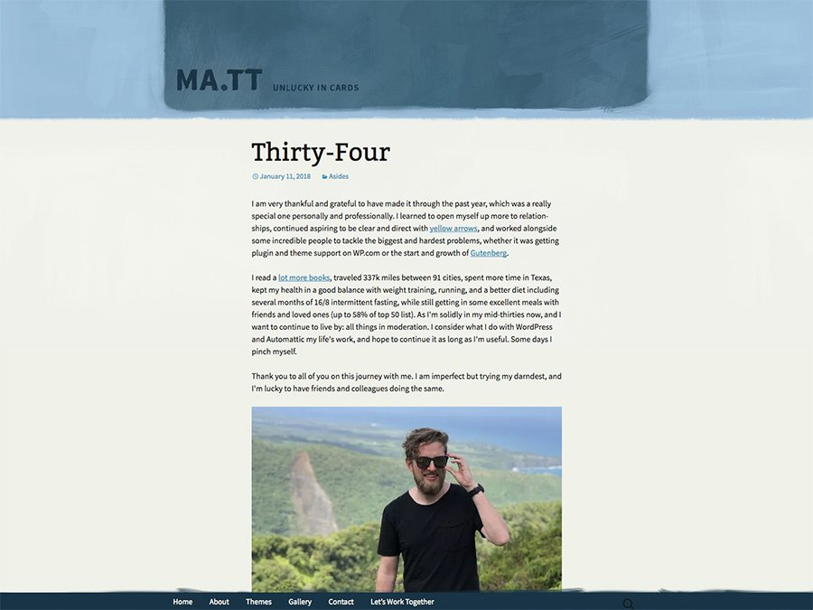Matt Mullenweg blog