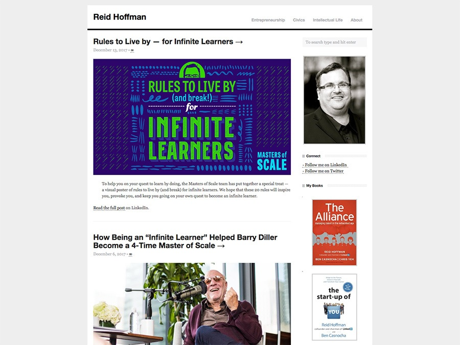 Reid Hoffman blog