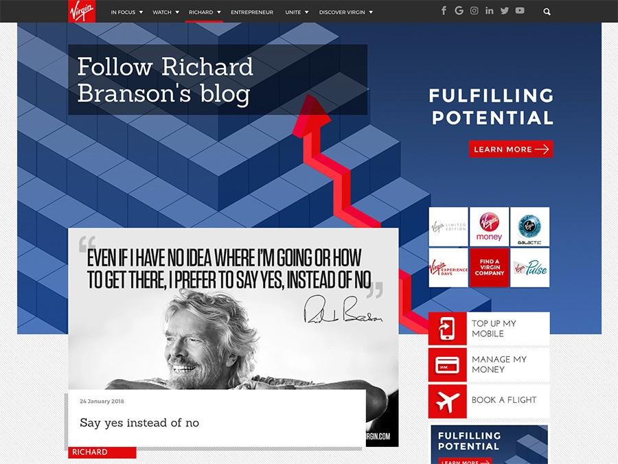 Richard Branson blog