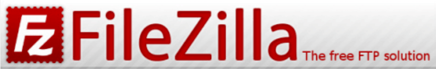 The FileZilla website header.