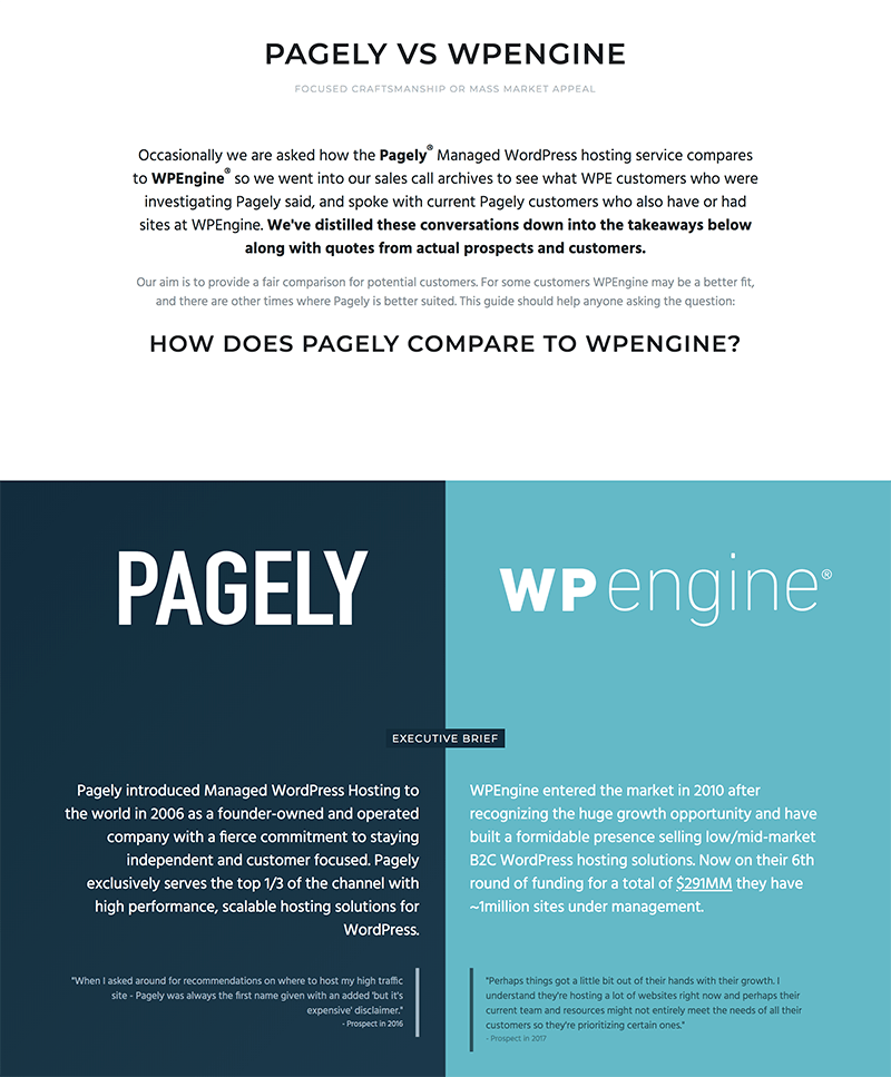 Pagely vs WPEngine