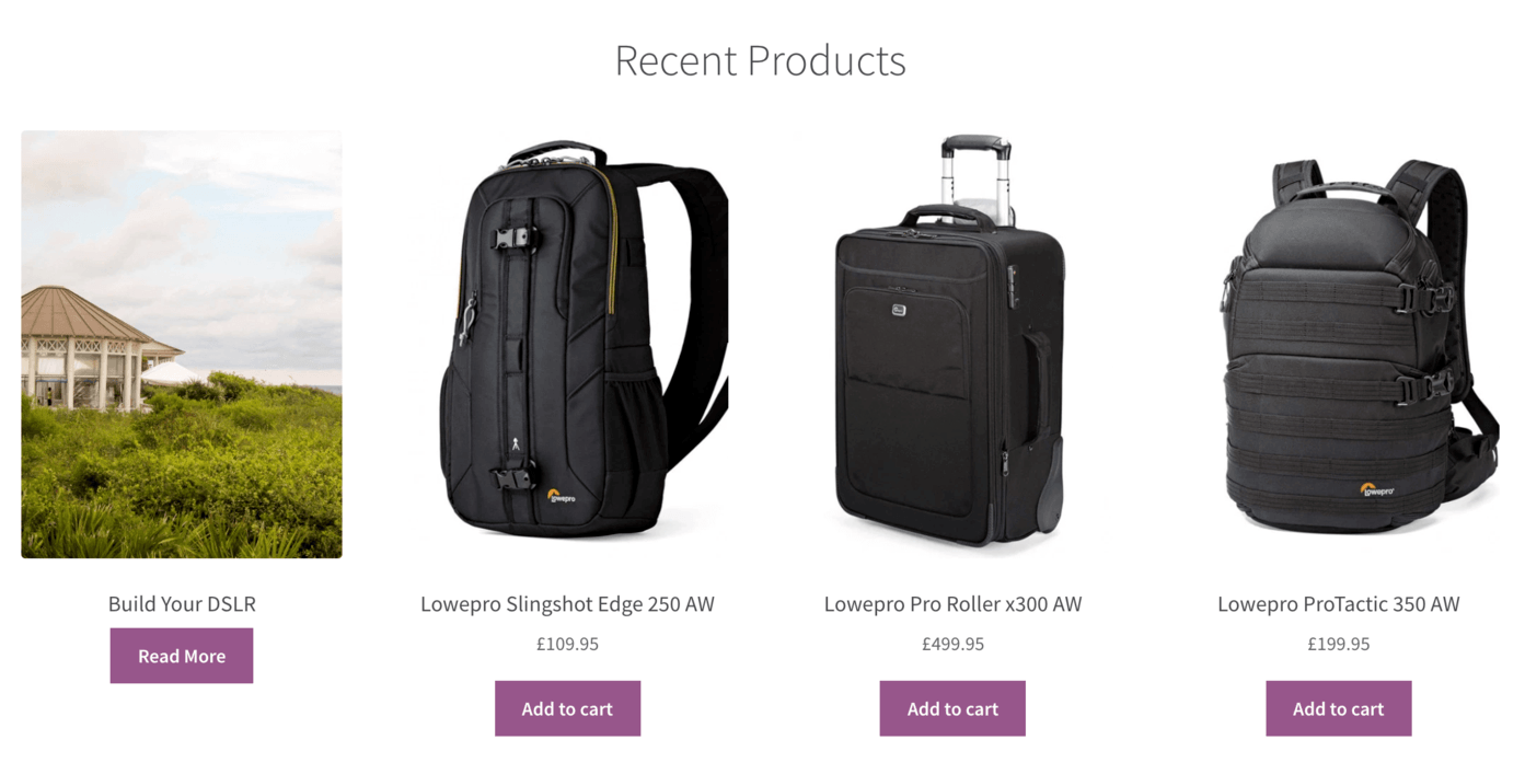 An example of a WooCommerce-powered online store.