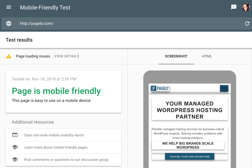 Pagely mobile-friendly